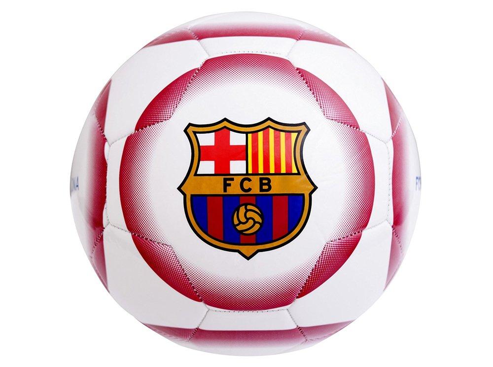 White Crest Size 5 Football Barcelona F.C