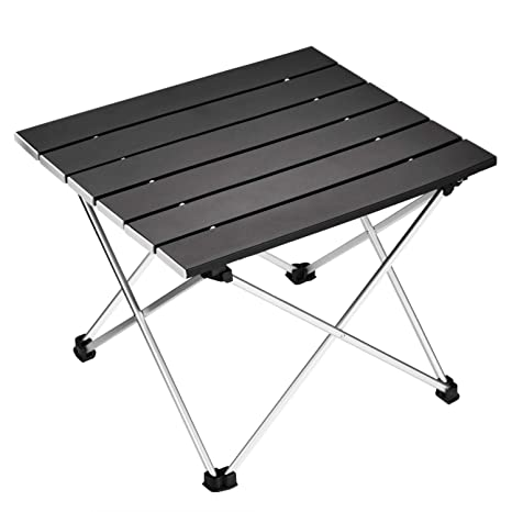 Ledeak Portable Camping Table, Small Ultralight Folding Table with Aluminum Table Top and Carry Bag, Easy to Carry, Prefect for Outdoor, Picnic, BBQ, ...