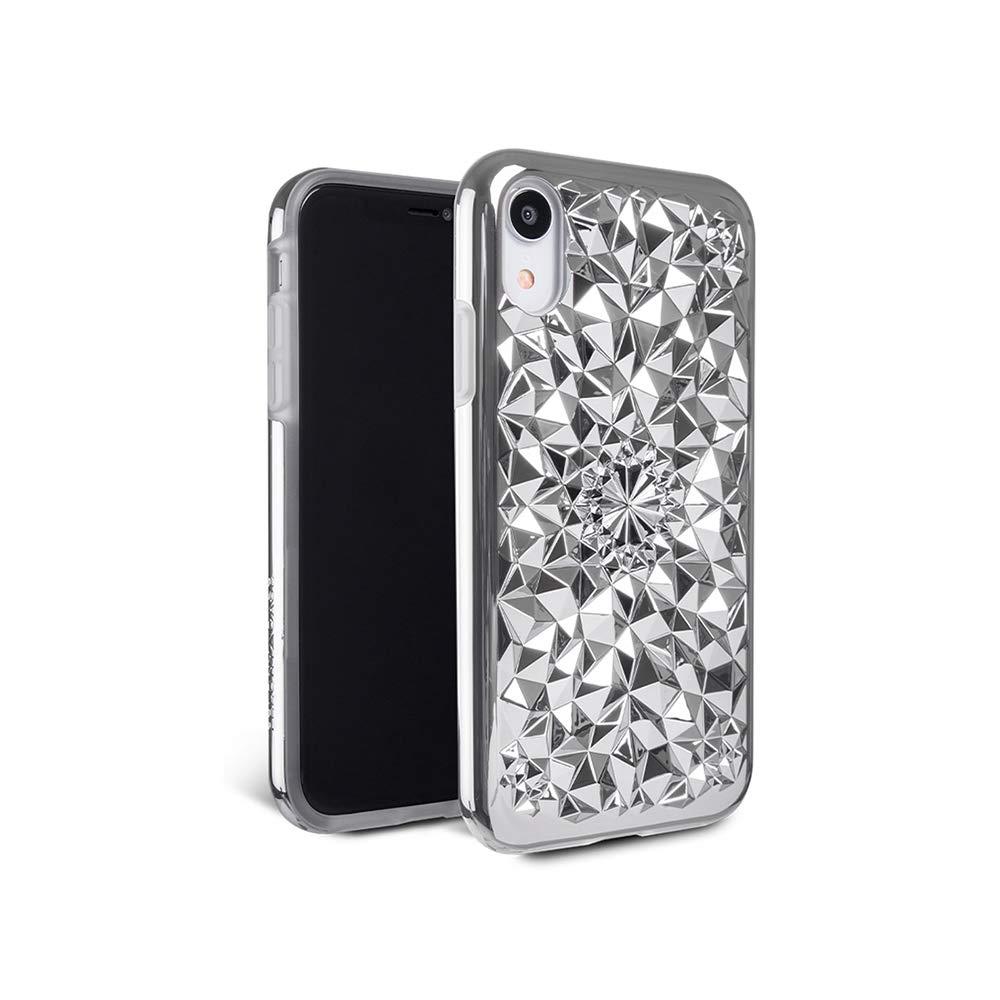iPhone XRケース - FELONY CASE - 万華鏡ケース - 3D幾何学的360°衝撃吸収保護iPhone XRケースはスクリーンとボディを保護します(シルバー万華鏡ケース)   B07KMGBZ65