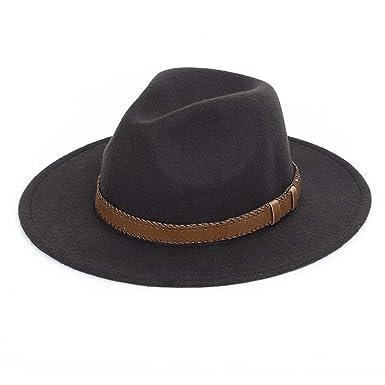 0c49a844c92 Women Men Wide Brim Fedora hat Wool Pork Pie Flat Top Hat Vintage Felt hat  Gambler