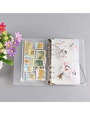 Starnearby - Cuaderno de hojas sueltas, 6 orificios, transparente, suave, PVC,