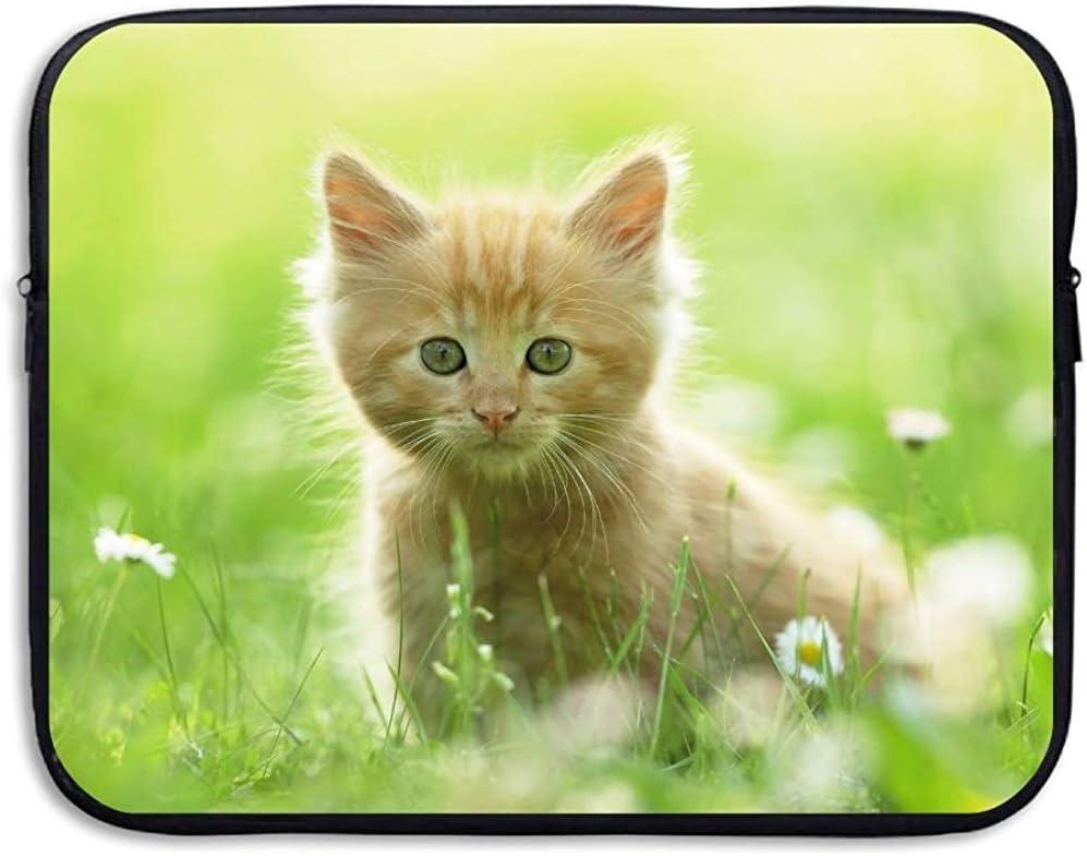 Funda para portátil Funda para Gato Kitty Pet Logo Bolsa de Almacenamiento para computadora Bolsa Protectora portátil Funda para Maletas Funda de 15 Pulgadas