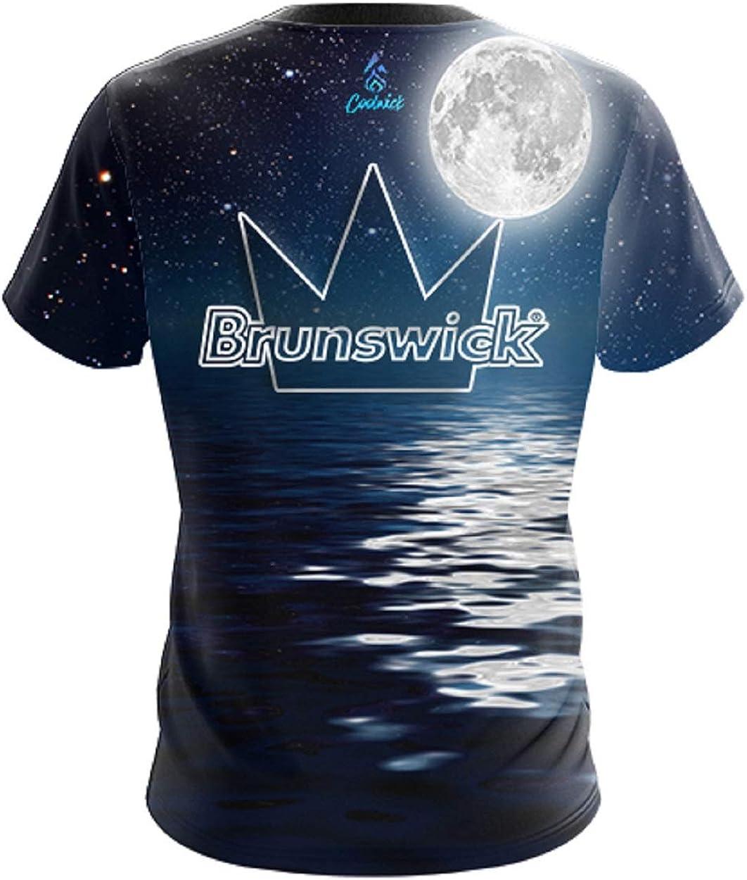 CoolWick Mens Brunswick Dark Seas Bowling Jersey