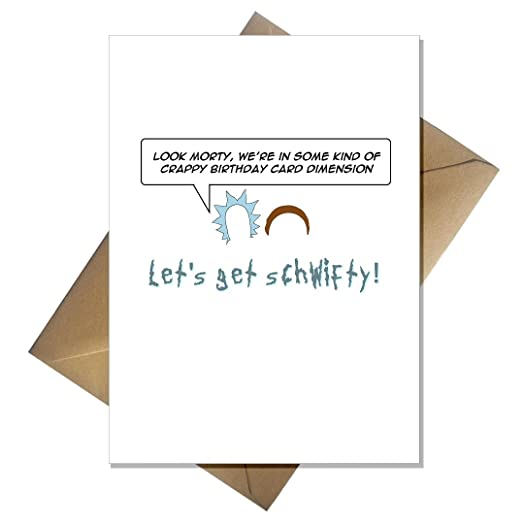 Funny Rick and Morty Birthday Card Lets get schwifty Amazon – Rick Roll Birthday Card