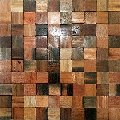 Legno tessere di mosaico - OSLO - Antico - Legno - Marrone Mix ...