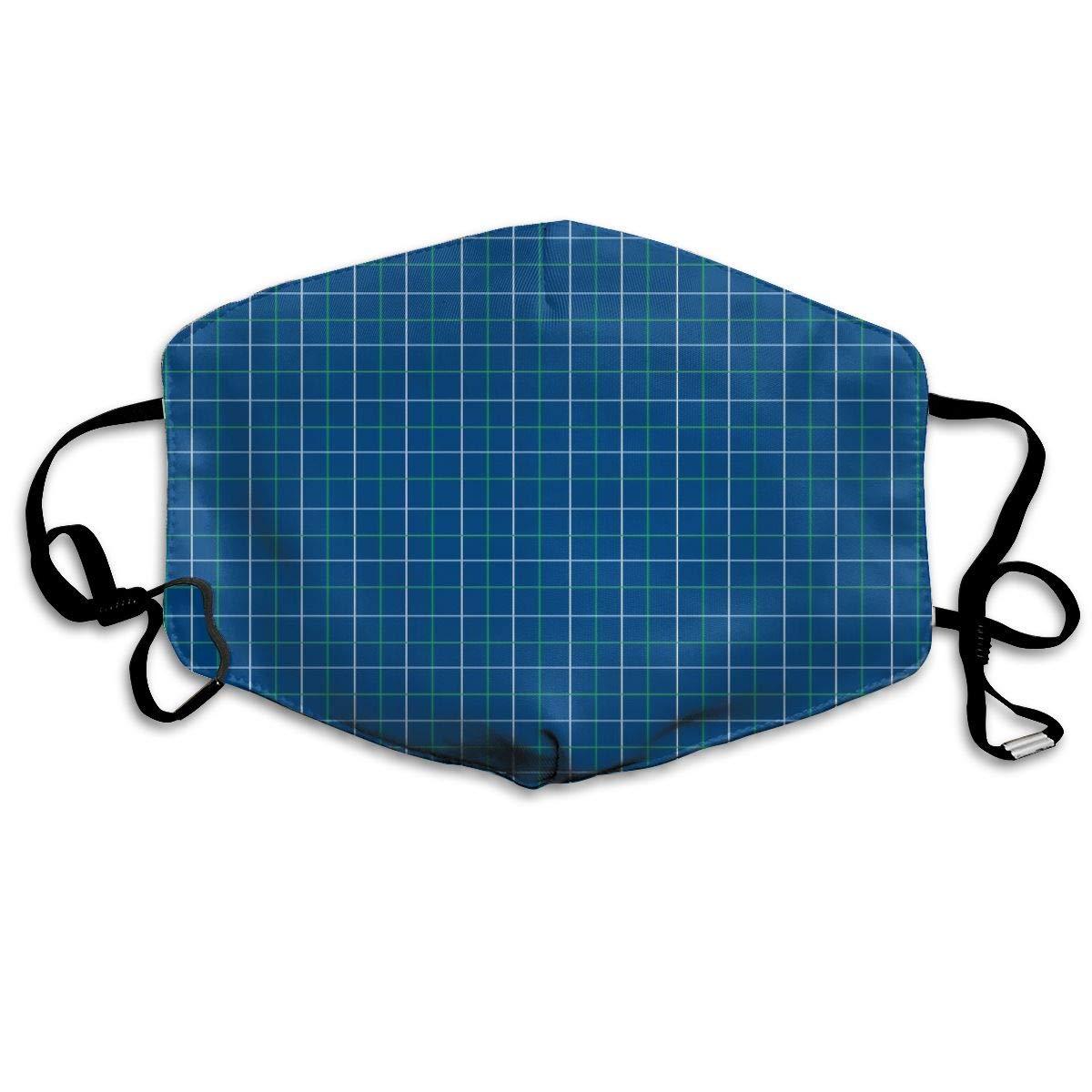 Máscara bucal Unisex Antipolvo para esquí, Ciclismo, Camping, Animal, Rejilla Azul