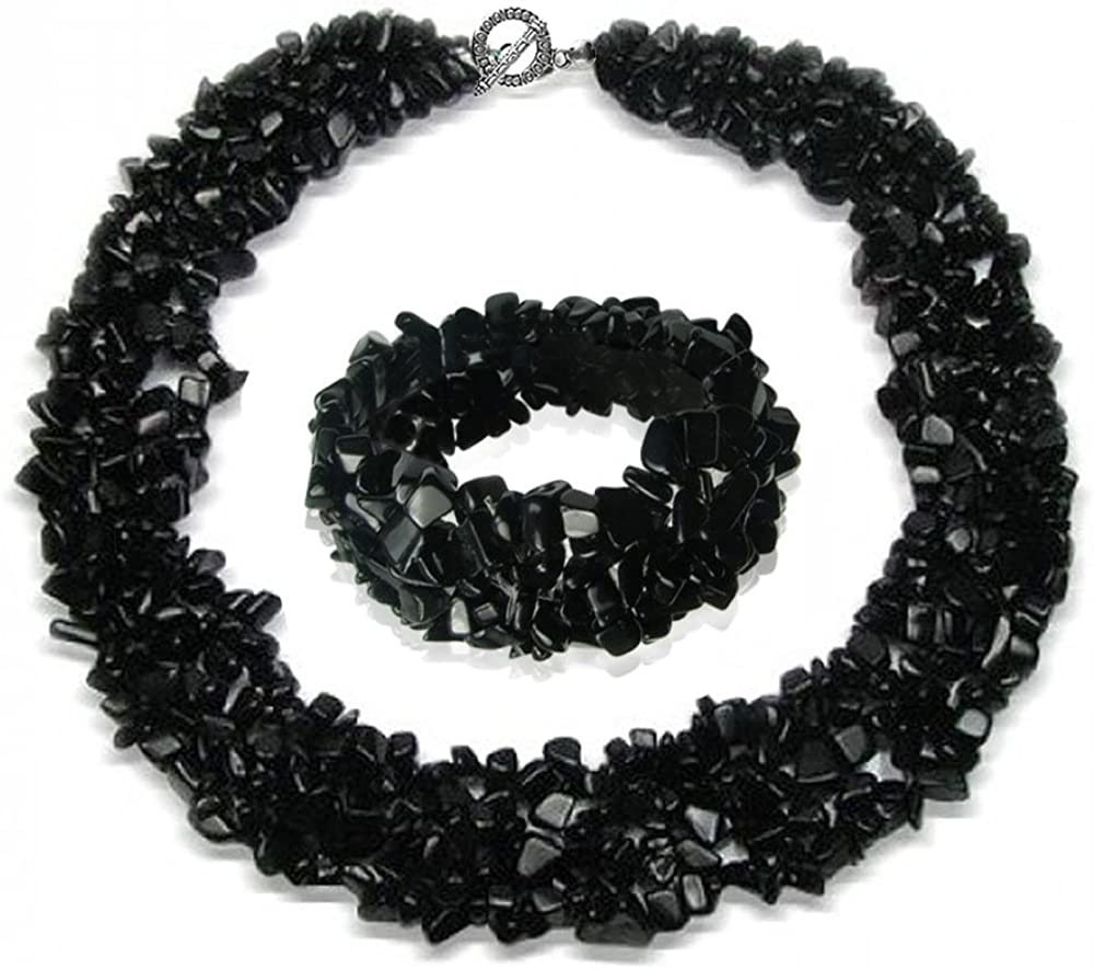 Bling Jewelry Color Gemstone Chips Cluster Multi Strand declaración Bib Collar Collar Pulsera Pulsera joyería para Las Mujeres