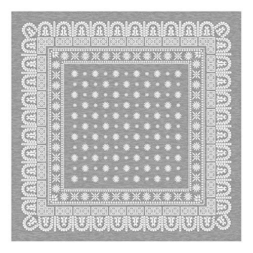 flower bandanna rug フラワー バンダナ ラグ / グレー [ 200×200cm ] B00C3X7VTA
