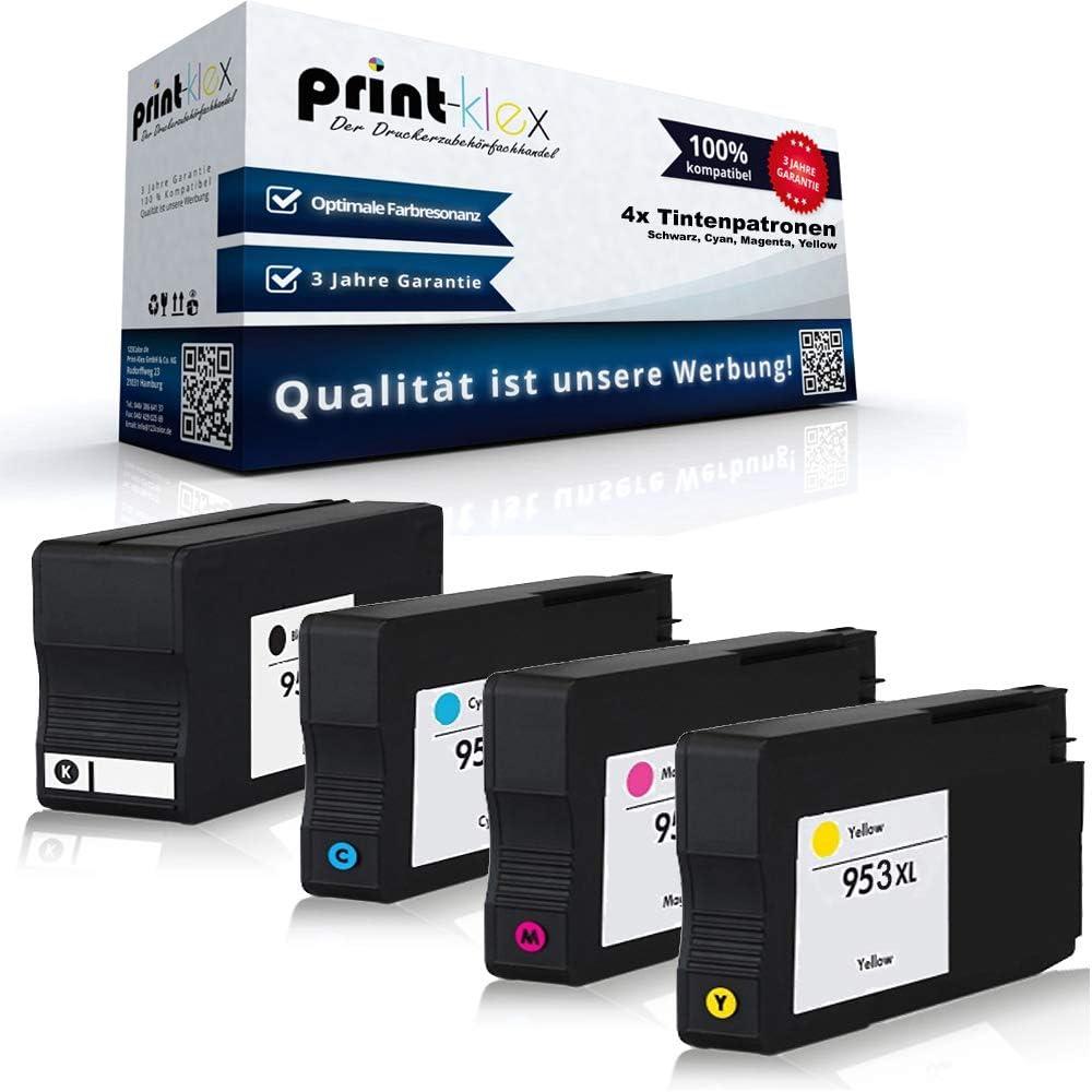 4/x Cartuchos de Tinta Compatibles para HP Officejet Pro 7700/Series Pro 7720/Pro 7730/Pro 7740/WF l0s70ae f6u16ae f6u17ae f6u18ae Black cian Magenta Yellow/ /Office Plus Serie