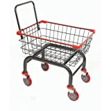 Heavy Duty Household & Commercial Charcoal Grey Cart with U- Handle (Red Trim) (Red)