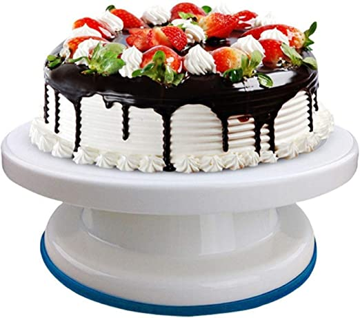 """11/"""" Revolving Plate Decorating Cake Turntable Kitchen Display Stand Baking Tools"""