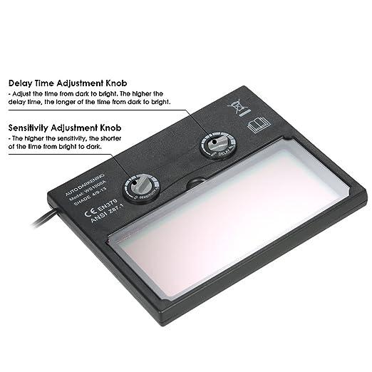 KKmoon Lente Soldadura Solar Energía Automático Oscurecimiento Casco Máscara Soldador Tapa Filtro Sombra Máscara Gafas Lente para Soldadura Tapa con ...