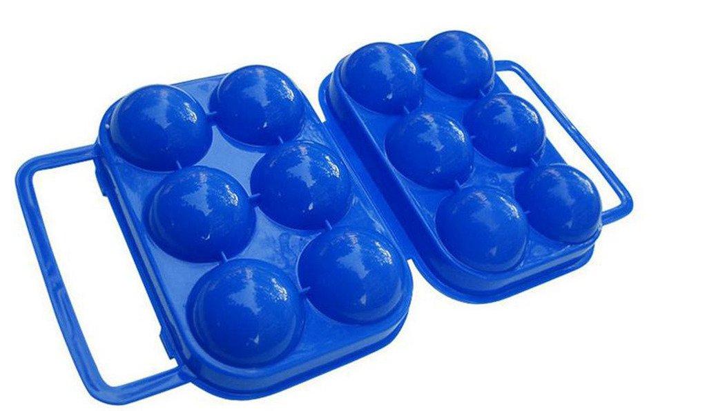 Distinct Custodia pieghevole portatile in plastica con contenitore per esposizione a forma di uovo per 6 uova