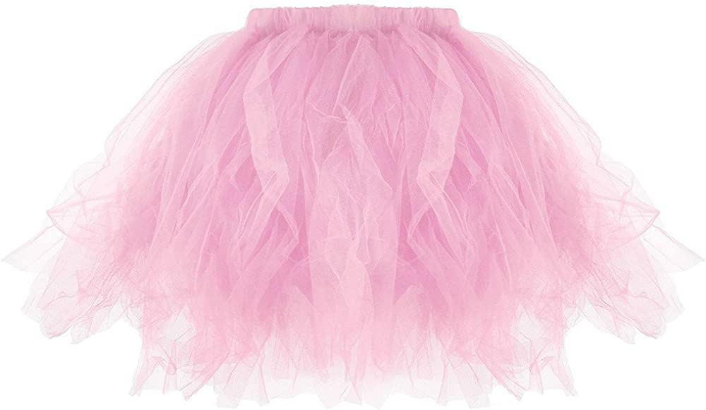 FNKDOR Tutu Woman Mini Skirt Tulle EveningE Ballet Size Elastico One Size Sfera di Colore Solido