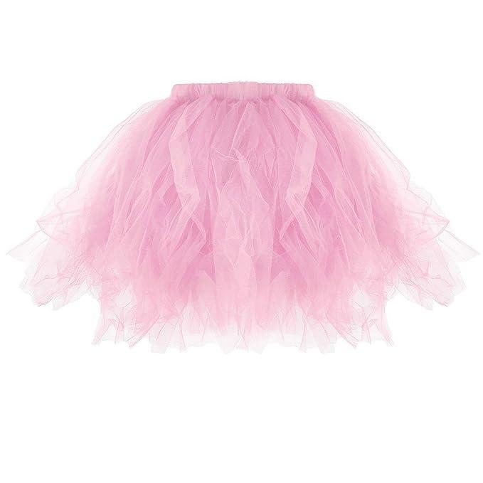 7c25f1bdcd TIMEMEAN Falda De Tutú Adulto para Mujer Tutu Plisado Minifaldas Plisadas   Amazon.es  Ropa y accesorios