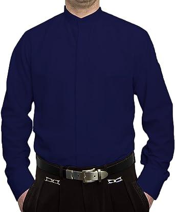 Del Pierro - Camisa para hombre, cuello alto, sin necesidad de planchado, muchos modelos: Amazon.es: Ropa y accesorios
