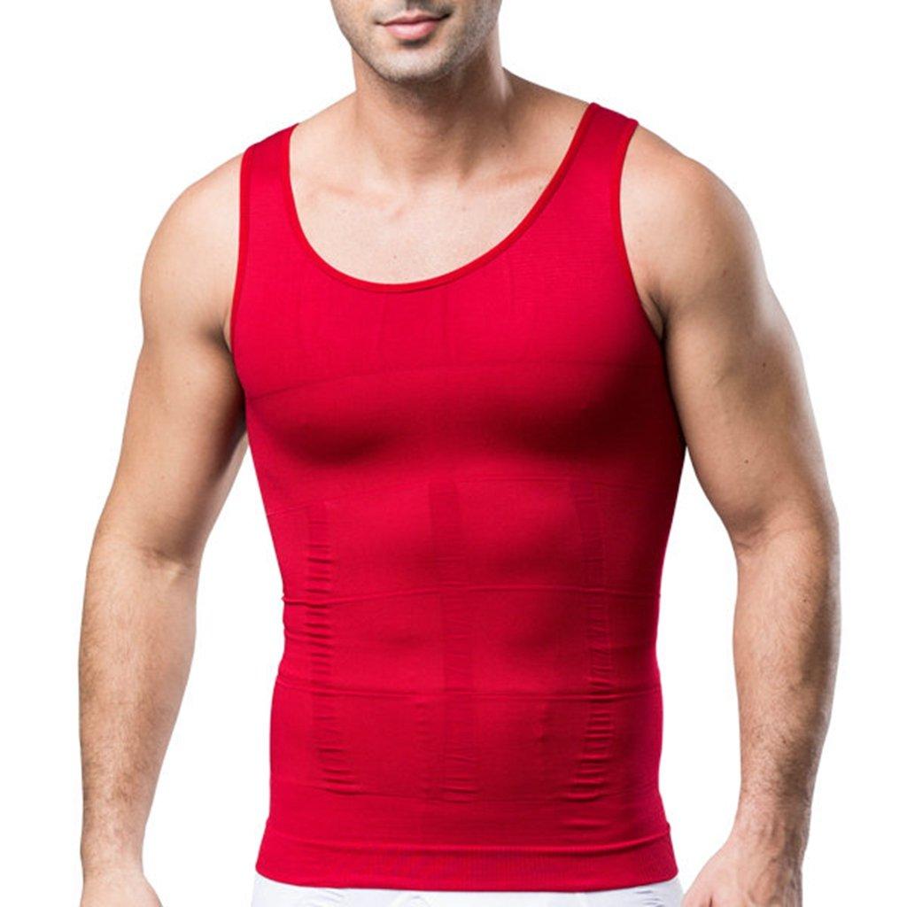 Jiao Miao Mens Waist Body Shaper Vest T-Shirt Tank Tops