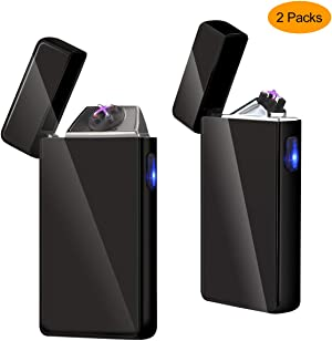 Kivors Plasma Lighter USB Rechargeable Windproof Electronic Plasma Pulse X Beam Dual Arc Lighter Butane Free