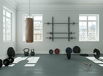 Amazon Com Leowefowa 9x6ft Gymnasium Backdrop Interior Fitness