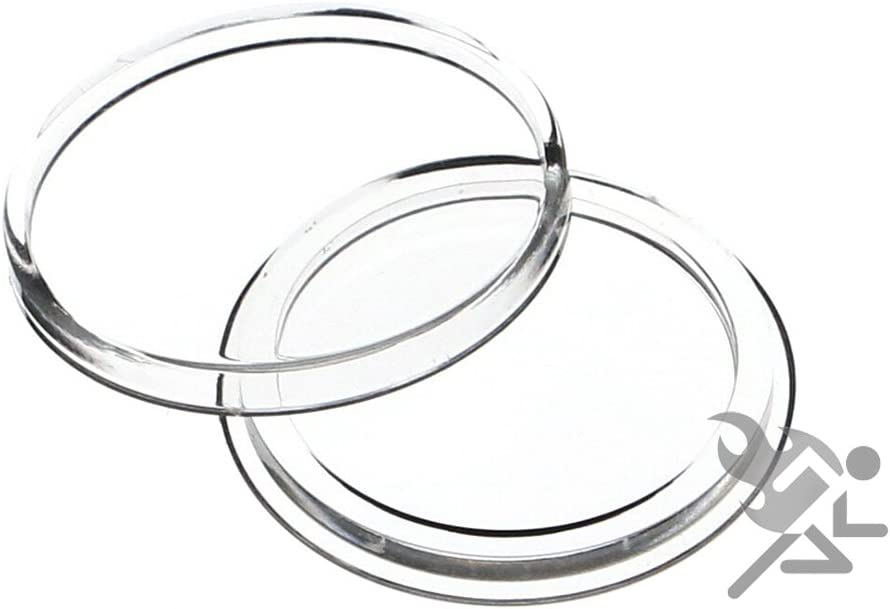 5 Pack Air-Tite Holders 24mm Black Ring US Quarter Coin Capsules