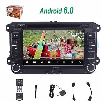 EINCAR ?Doble DIN DIN 2 7Car ESTšŠreo Control del Volante CANBUS GPS Android 6.0 Jugador del Coche DVD GPS Navigator para VW Passat Golf Polo Jetta ...