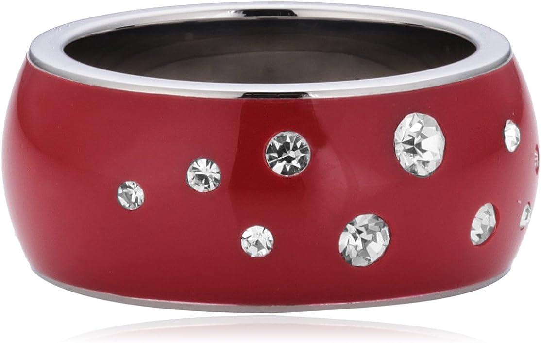 Morellato SNA0801 - Love Rings - Anillo de Mujer de Acero Inoxidable con Cristales