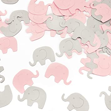 Pink Elephant Confetti 200 Pcs Elephant Scatter Baby Shower Decoration For Girl Baby Shower Birthday