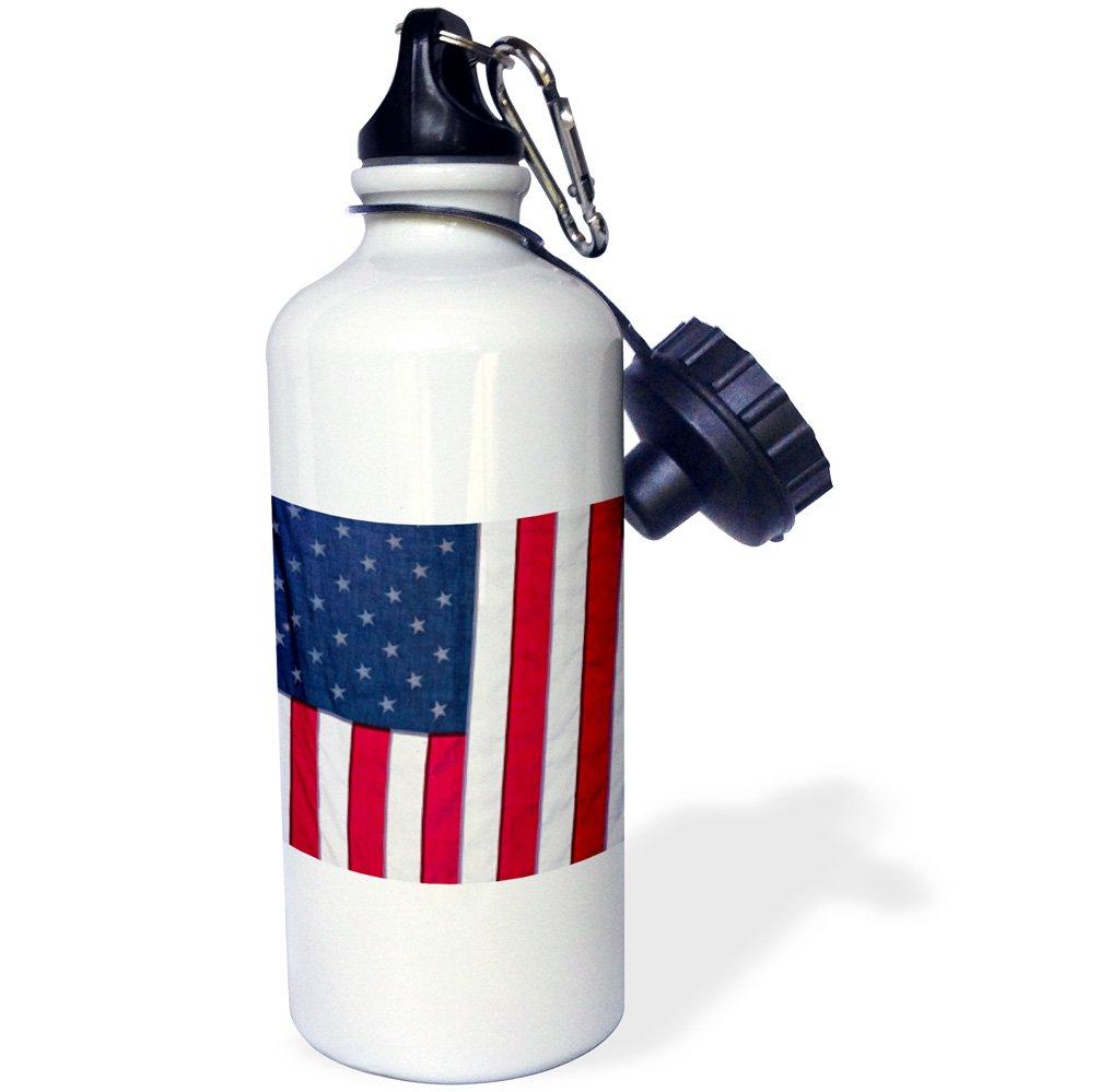 White 3D Rose 1 wb/_251187/_1 Sports Water Bottle 21 oz