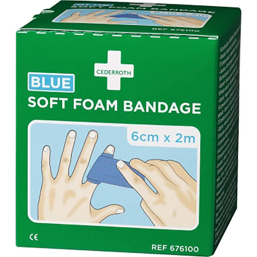 CEDERROTH Rouleau de bandage en mousse souple Bleu Longueur 200 cm Largeur 6 cm