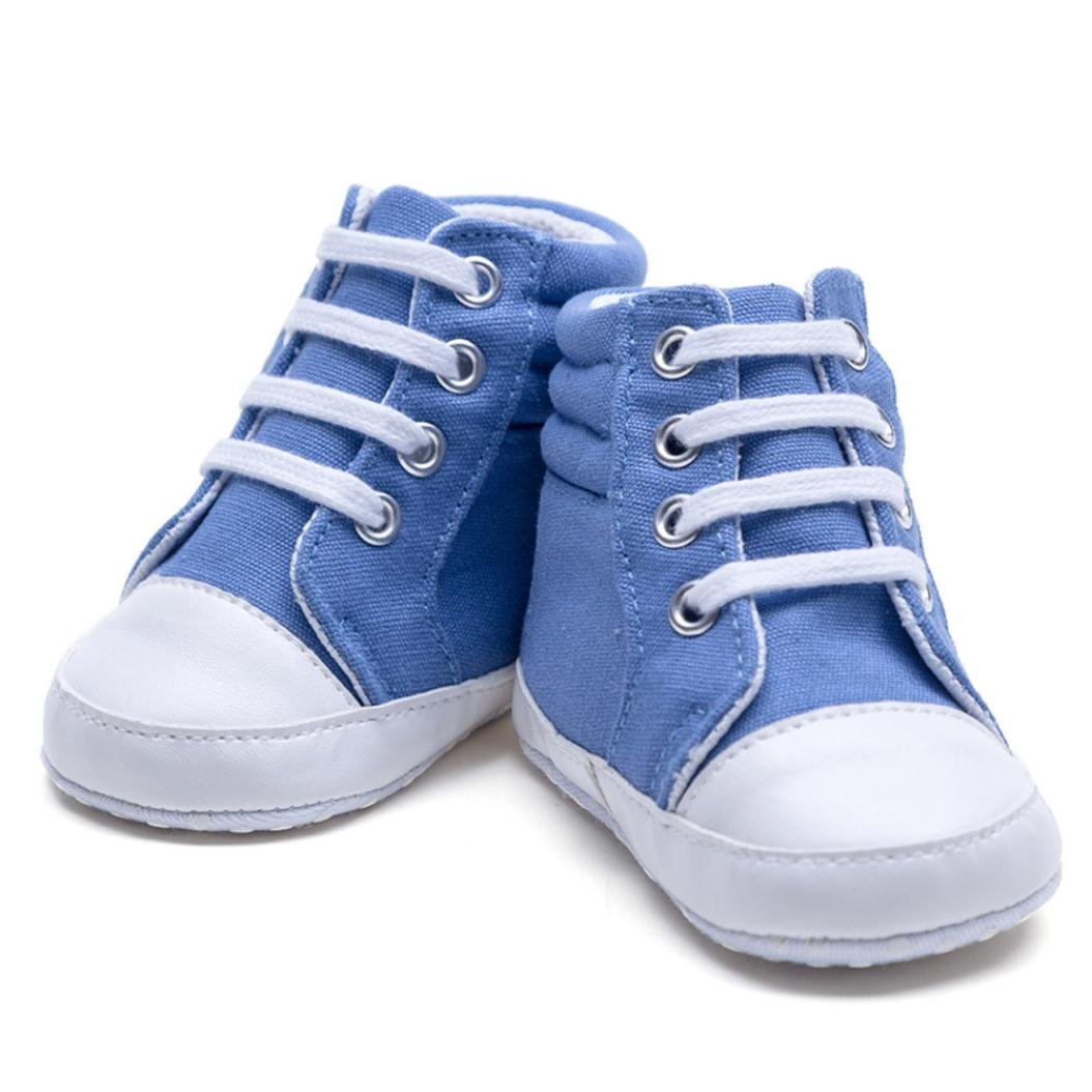 Iuhan Baby Infants Girl Boy High Top Leisure Sneaker Soft Anti-Slip Canvas Shoes