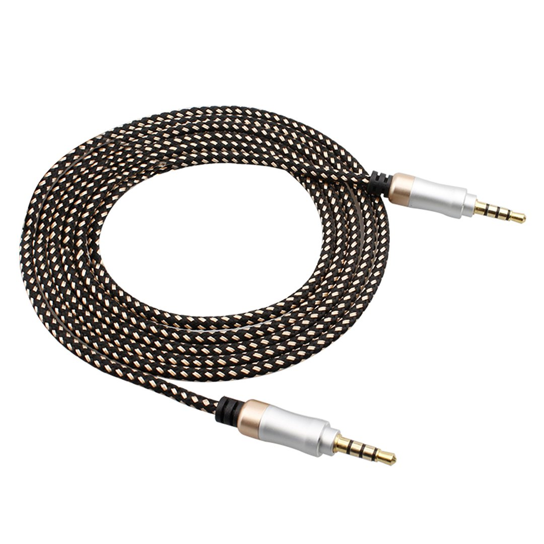 Amazon.com: Audio cable,5 Feet 3.5mm Braided audio cable, Male to Male Stereo Aux Cable with Premium Metal, for Smartphones, Tablets and MP3 Player, ...