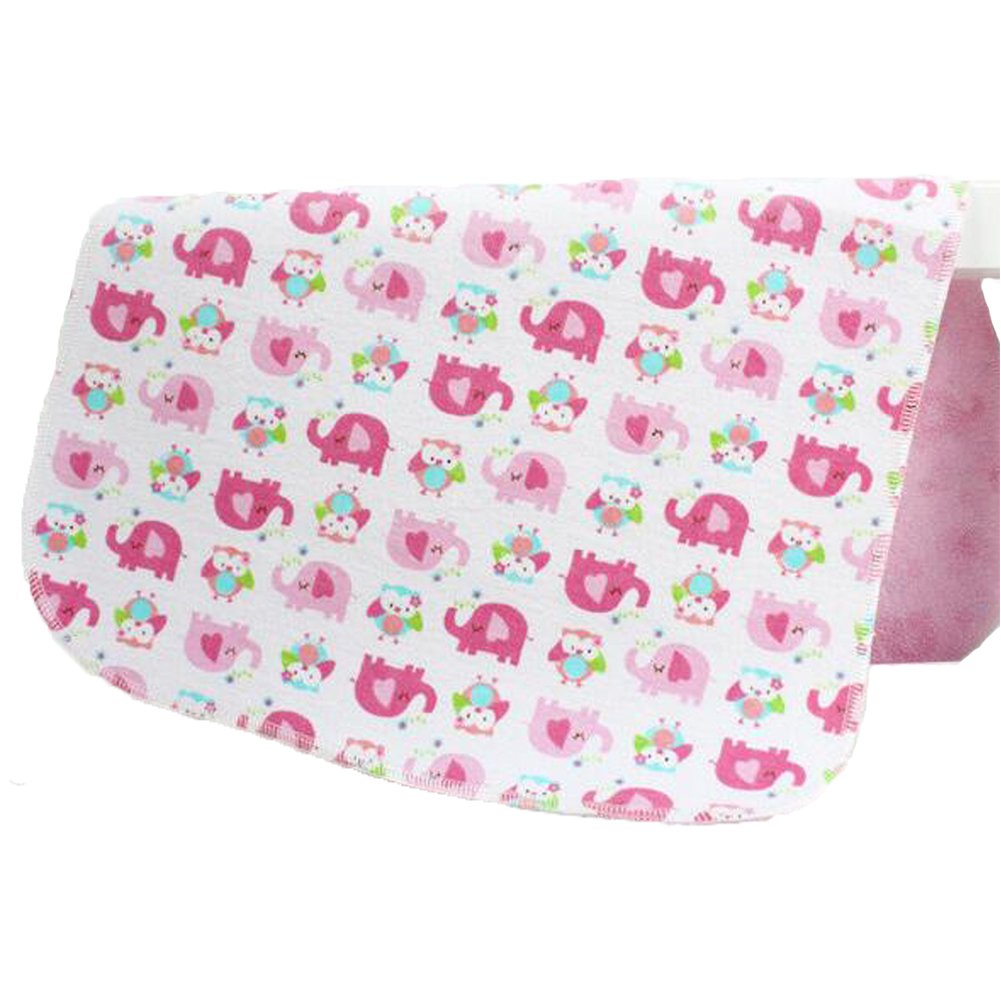 Changing Pad, Fairy Baby Baby Diaper Portable Travel Home Waterproof Urine Mat Pack of 1(Pink Elephant, 27.56X31.50) 27.56X31.50) Rainbow Trade Co Ltd H030