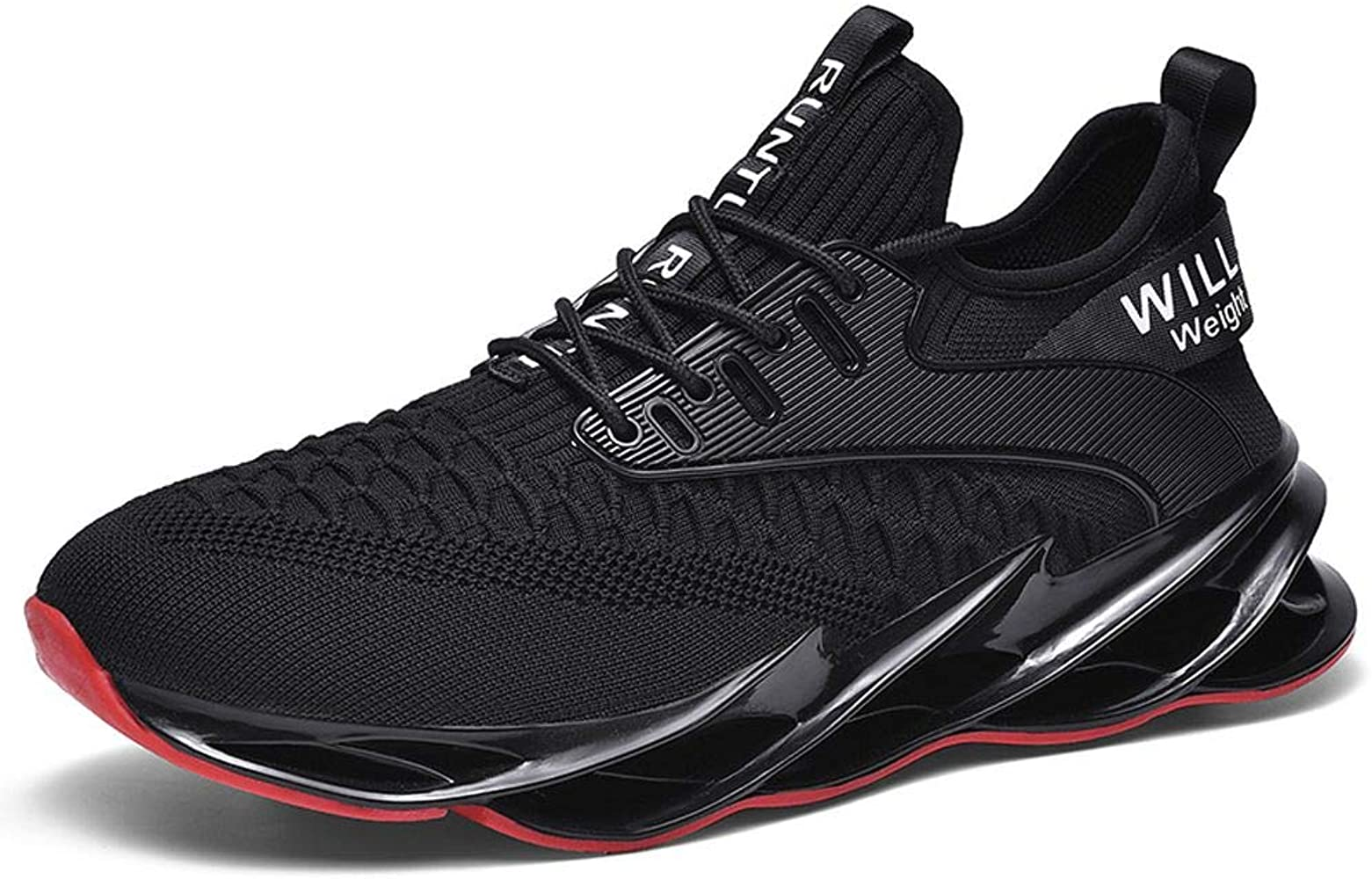 MALAXD Unisex Lightweight Shock Absorption Wave Outsole Mesh Sneakers Tennis Road Running Gym Shoes