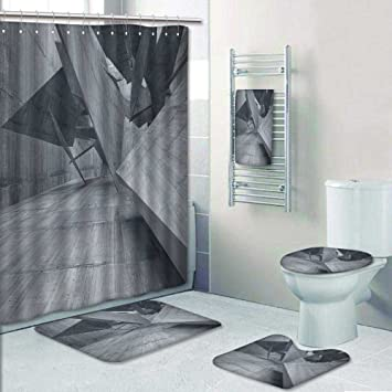 VROSELV 5tlg Badezimmer Set-Hintergrund Marmor Stil Paint Stroke ...