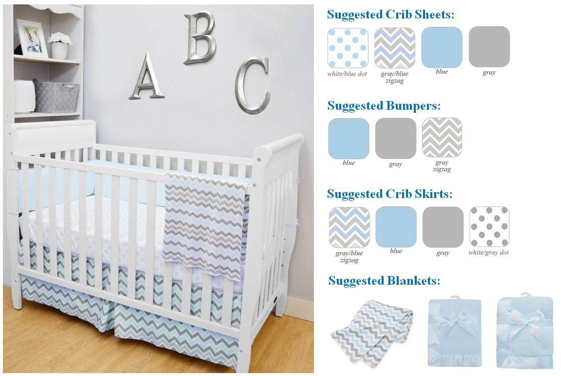 American Baby Company 100/% Natural Cotton Percale Ruffled Crib Skirt for Boys Navy Soft Breathable