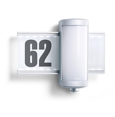 Steinel L 625 LED 003764 - Lámpara sensor del exterior con numero de casa, 360