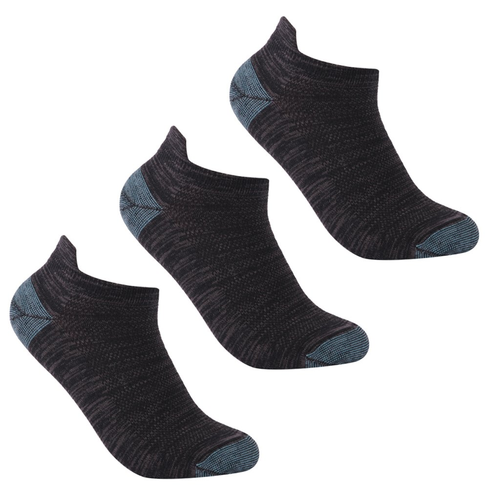 luccalilyユニセックスヒールタブMoisture Wickingローカットカジュアルスポーツ靴下1 , 3ペア B07B8JPQPJ Large|3 pair black 3 pair black Large
