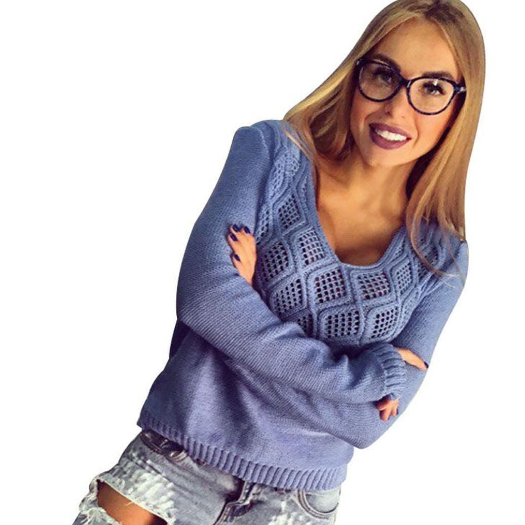♡ღ Femmes Pull /à Tricoter,Ularmo/® Manche Longue Pull /à Sauteur Hauts Tricots ღ♡