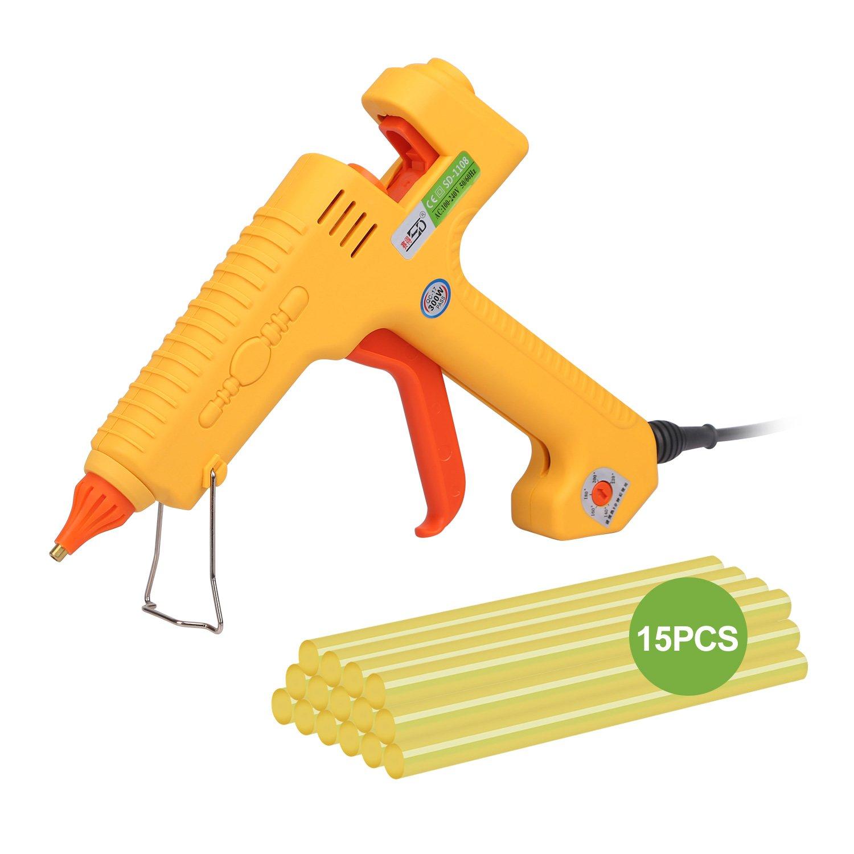 Super PDR Hot Glue Gun Glue Sticks - High-Tech Electronic Constant Temperature PTC Heating Technology For DIY Arts &Crafts & Glue Gun Sticks &Sealing And Quick Repairs(300-watt,Yellow)