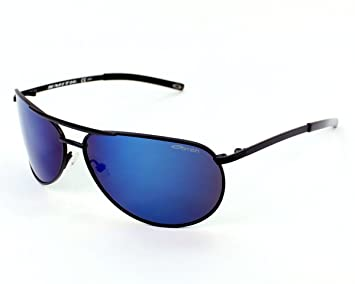 b5cc3cb9fb Smith Optics Serpico Slim Matte Black Frame Blue Mirror Polarized Lens  Metal Sunglasses