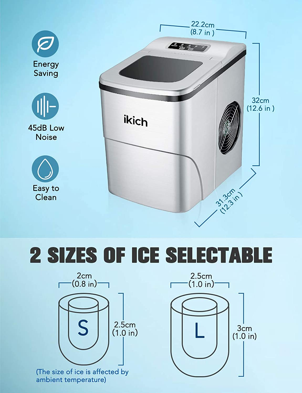 Appliances Ice Makers alpha-ene.co.jp IKICH Portable Ice Maker ...