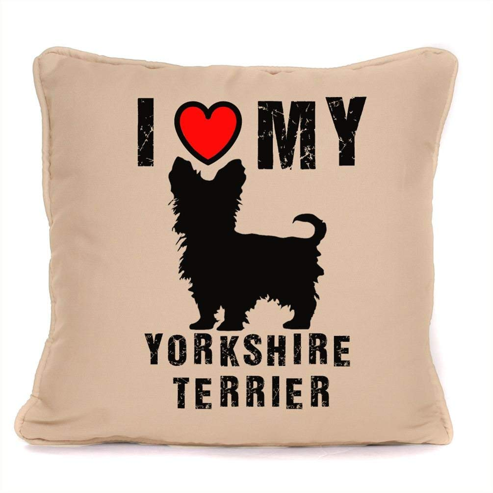 Personalised Gift For Dog 18 x 18 Inch. I Love My Chihuahua Piped Cushion With Pad Included