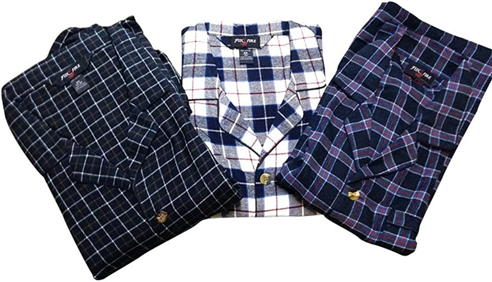 Big and Tall Flannel Pajamas Assorted Colors by Foxfire