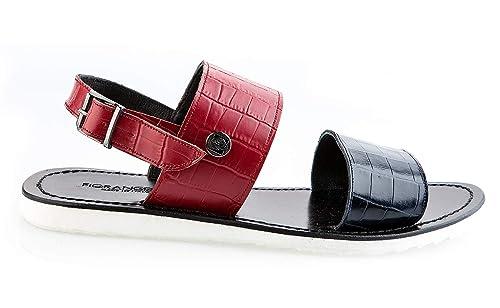 purchase cheap 0f086 4c4bc Fiorangelo 6320 Leather Italian Designer Men Sandals: Amazon ...