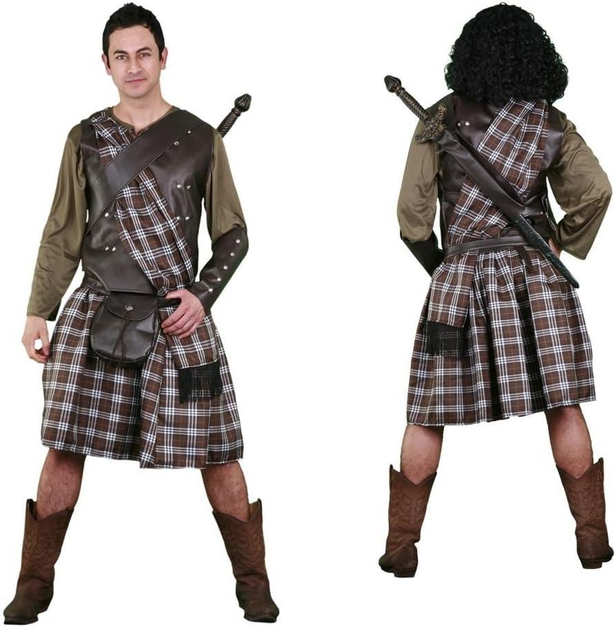Disfraz de Guerrero Escocés para hombre talla M-L: Amazon.es ...