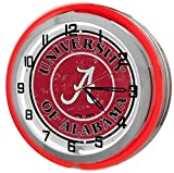 University Of Alabama 18'' Red Neon Garage Clock from Redeye Laserworks