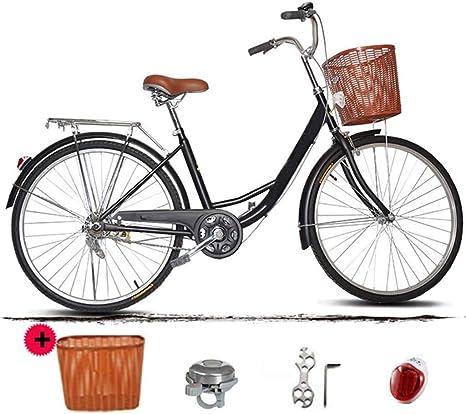 Bicicleta 26 Pulgadas, 24 Pulgadas Bicicleta Amortiguador Ligero Viaje: Amazon.es: Deportes y aire libre