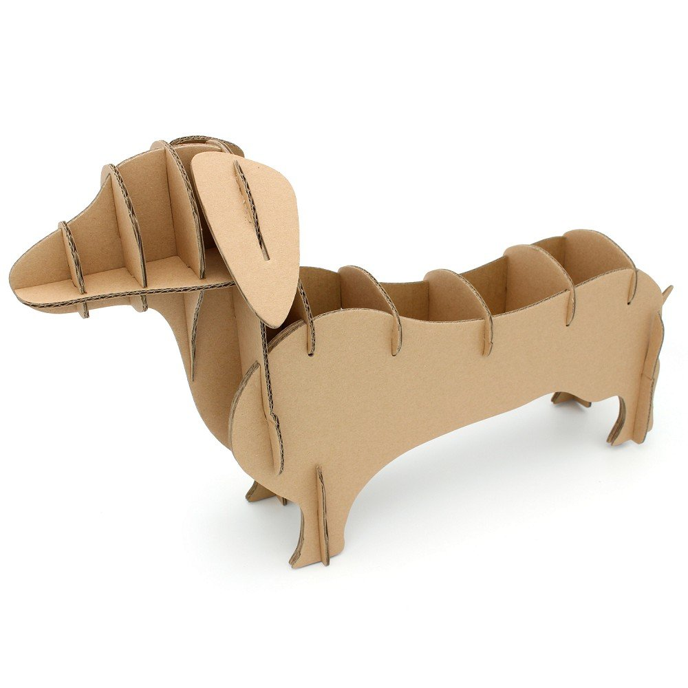 I\'m Charmer Store Your Things in This Simple Cardboard Dachshund Shelving