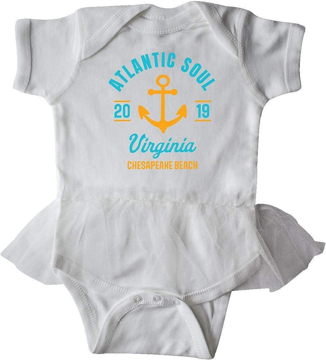 inktastic Atlantic Soul Virginia Chesapeake Beach 2019 with Infant Tutu Bodysuit