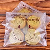 Product review for Efivs Arts 200pcs Cute Smile Face Self Adhesive Cookie Bakery Candy Biscuit OPP Plastic Bags for Bakery Party Wedding Dessert